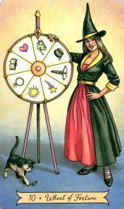 10 Колесо Фортуны Everyday Witch Tarot