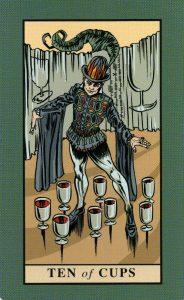 10 Кубков The English Magic Tarot Таро Английской Магии