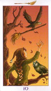 10 Метл (Масть Мечей) Ведьмовское Таро (Таро Ведьм) Witchy Tarot