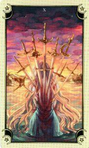 10 Мечей Таро Семи Звезд Mystical Manga Tarot