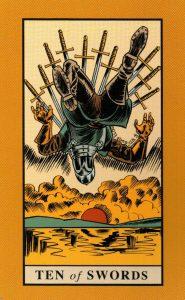 10 Мечей The English Magic Tarot Таро Английской Магии