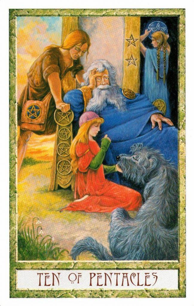 10 Пентаклей Таро Друидов The Druid Craft Tarot