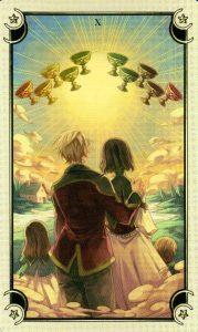 10 Чаш Таро Семи Звезд Mystical Manga Tarot