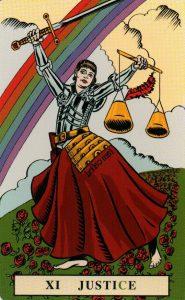 11 Аркан Правосудие Справедливость The English Magic Tarot Таро Английской Магии