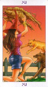 11 Аркан Сила Ведьмовское Таро Witchy Tarot