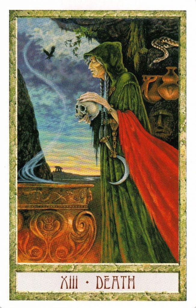 13 Аркан Смерть Таро Друидов The Druid Craft Tarot