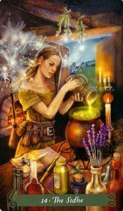 14 Аркан Сиде The Green Witch Tarot (Таро Зеленой Ведьмы)