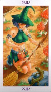 14 Аркан Умеренность Ведьмовское Таро Witchy Tarot