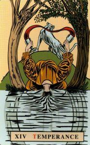 14 Аркан Умеренность The English Magic Tarot Таро Английской Магии
