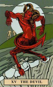 15 Аркан Дьявол The English Magic Tarot Таро Английской Магии