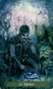 15 Аркан Естество The Green Witch Tarot (Таро Зеленой Ведьмы)