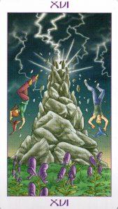 16 Аркан Башня Ведьмовское Таро Witchy Tarot