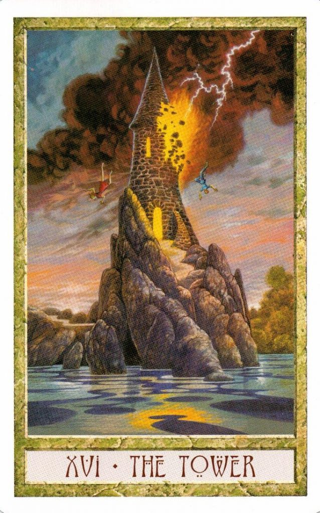 16 Аркан Башня Таро Друидов The Druid Craft Tarot