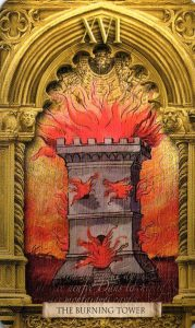 16 Аркан Горящая Башня Утраченное Таро Нострадамуса