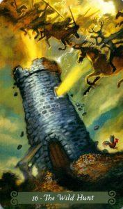 16 Аркан Дикая Охота The Green Witch Tarot (Таро Зеленой Ведьмы)