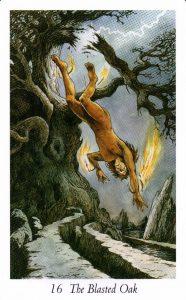 16 Разрушенный Дуб Таро Дикого Леса - The Wildwood Taro