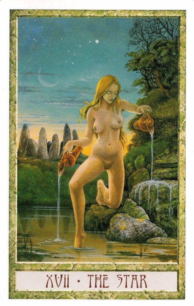 17 Аркан Звезда Таро Друидов The Druid Craft Tarot