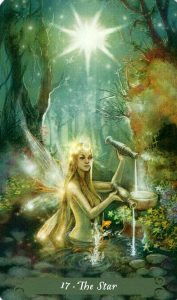 17 Аркан Звезда The Green Witch Tarot (Таро Зеленой Ведьмы)