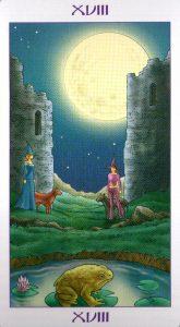 18 Аркан Луна Ведьмовское Таро Witchy Tarot