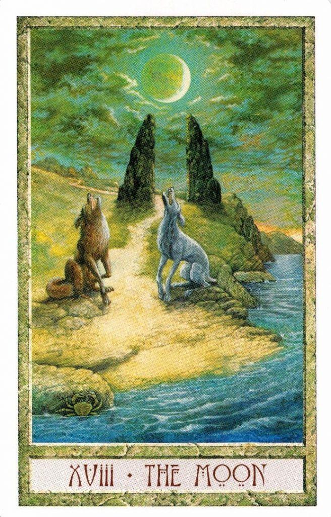 18 Аркан Луна Таро Друидов The Druid Craft Tarot