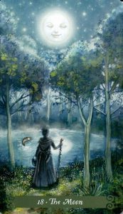 18 Аркан Луна The Green Witch Tarot (Таро Зеленой Ведьмы)