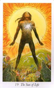 19 Аркан Солнце Таро Дикого Леса - The Wildwood Taro