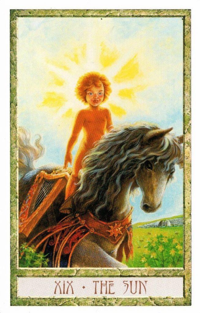 19 Аркан Солнце Таро Друидов The Druid Craft Tarot