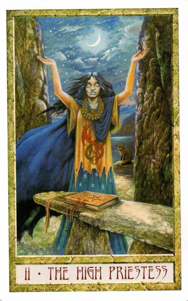 2 Аркан Верховная Жрица Таро Друидов The Druid Craft Tarot