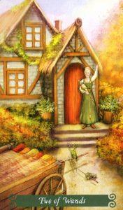 2 Жезлов The Green Witch Tarot (Таро Зеленой Ведьмы)
