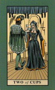 2 Кубков The English Magic Tarot Таро Английской Магии