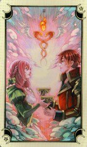 2 Чаш Таро Семи Звезд Mystical Manga Tarot