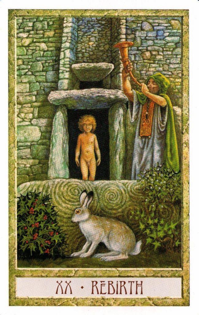 20 Аркан Кролик Таро Друидов The Druid Craft Tarot
