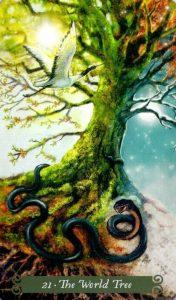 21 Аркан Древо Мира The Green Witch Tarot (Таро Зеленой Ведьмы)