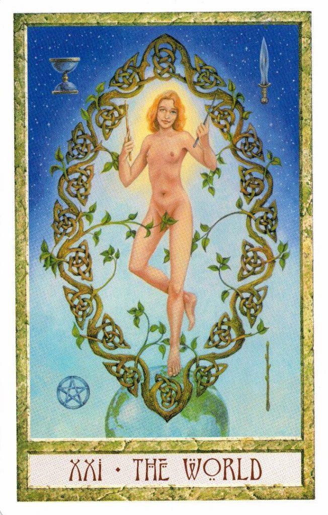 21 Аркан Мир Таро Друидов The Druid Craft Tarot