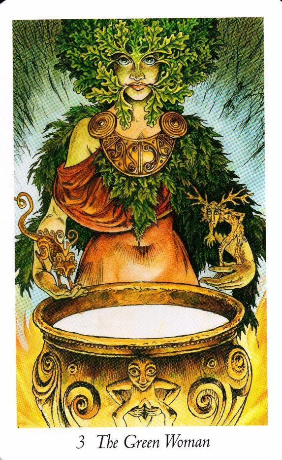 3 Аркан Зеленая Женщина Таро Дикого Леса - The Wildwood Taro