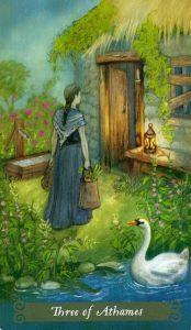 3 Аутэмов (Ножей) The Green Witch Tarot (Таро Зеленой Ведьмы)