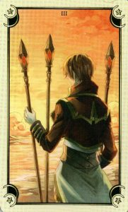 3 Жезлов Таро Семи Звезд Mystical Manga Tarot