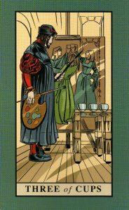 3 Кубков The English Magic Tarot Таро Английской Магии