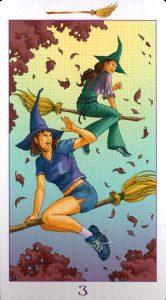 3 Метл (Масть Мечей) Ведьмовское Таро (Таро Ведьм) Witchy Tarot
