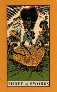 3 Мечей The English Magic Tarot Таро Английской Магии