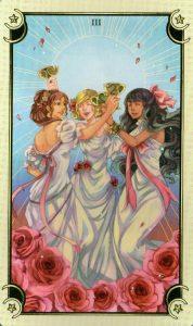 3 Чаш Таро Семи Звезд Mystical Manga Tarot