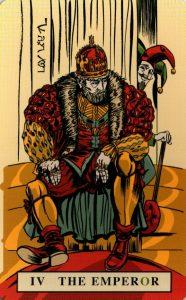 4 Аркан Император The English Magic Tarot Таро Английской Магии
