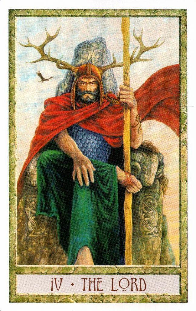 4 Аркан Хозяин Таро Друидов The Druid Craft Tarot