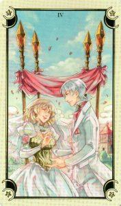 4 Жезлов Таро Семи Звезд Mystical Manga Tarot