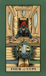 4 Кубков The English Magic Tarot Таро Английской Магии