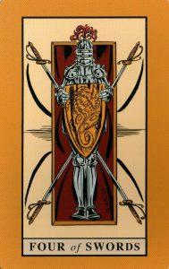 4 Мечей The English Magic Tarot Таро Английской Магии
