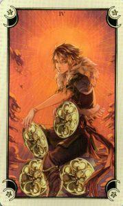 4 Монет Таро Семи Звезд Mystical Manga Tarot