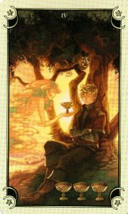 4 Чаш Таро Семи Звезд Mystical Manga Tarot