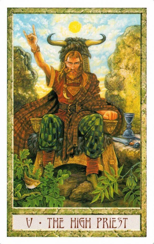 5 Аркан Верховный Жрец Таро Друидов The Druid Craft Tarot