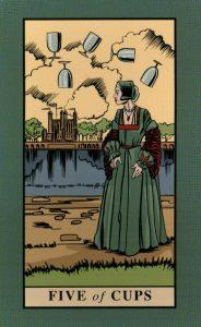 5 Кубков The English Magic Tarot Таро Английской Магии
